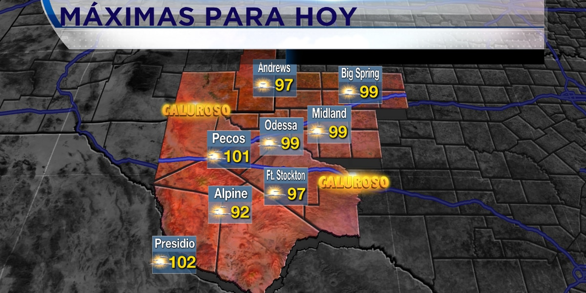 Experimentamos un clima caluroso en el Oeste de Texas.