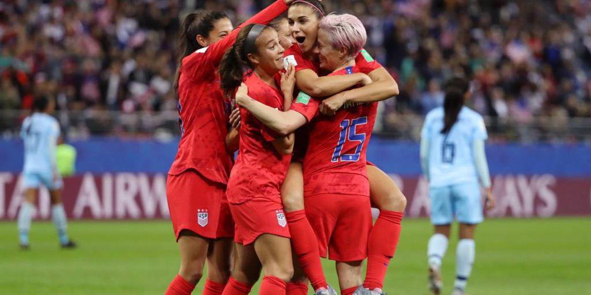 Estados Unidos goleó 13-0 a Tailandia y estableció un nuevo récord en el Mundial Femenino