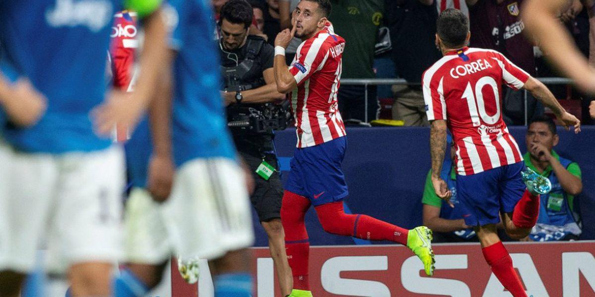 Héctor Herrera marcó el gol del empate ante la Juventus en su debut con el Atlético de Madrid