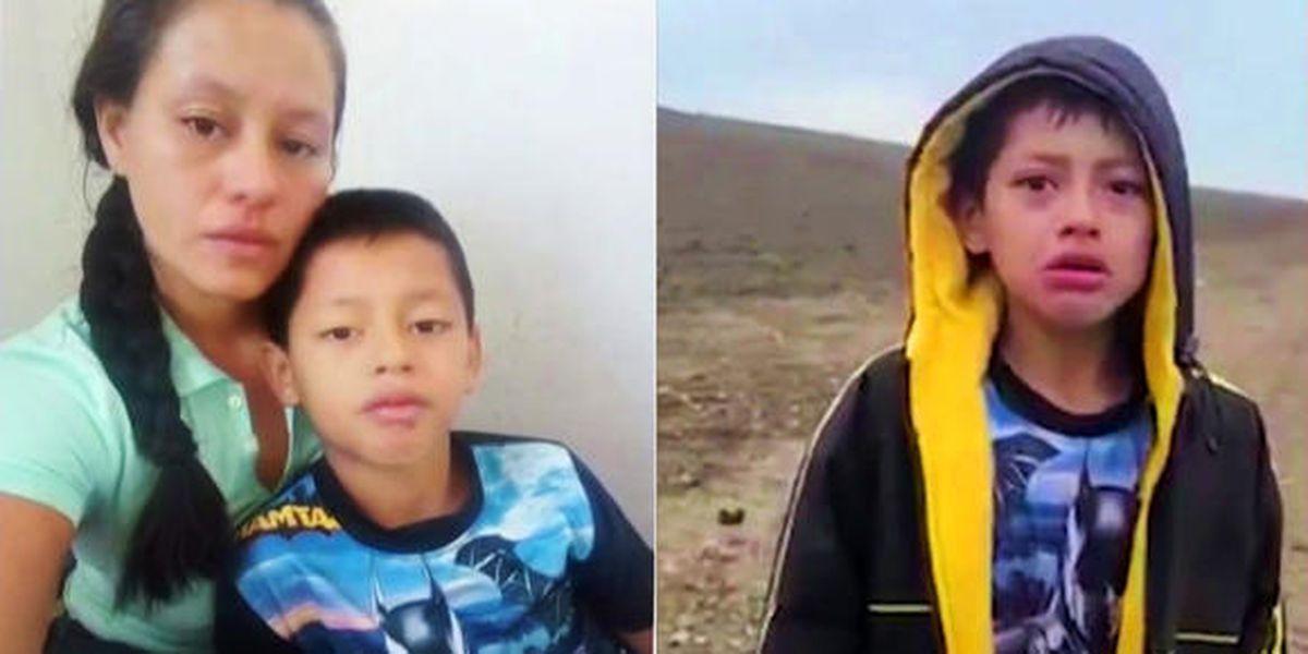 """""""Ya salí de este martirio"""": habla la madre del niño abandonado en la frontera tras ser liberada de su secuestro en México"""