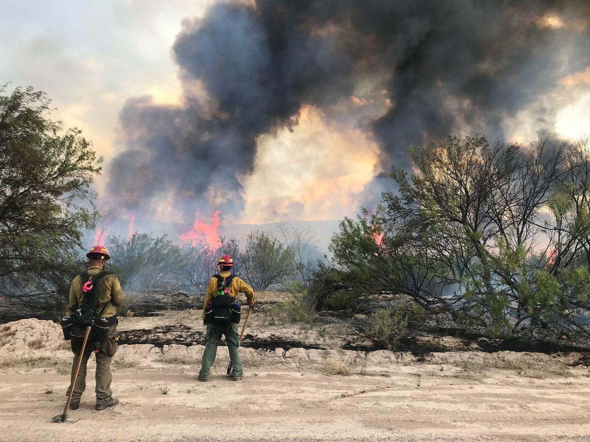 800 acres han sido consumidos por las llamas del incendio en el Parque Nacional de Big Bend