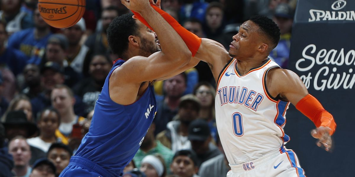 Westbrook, Murray tussle as Nuggets beat Thunder 109-98