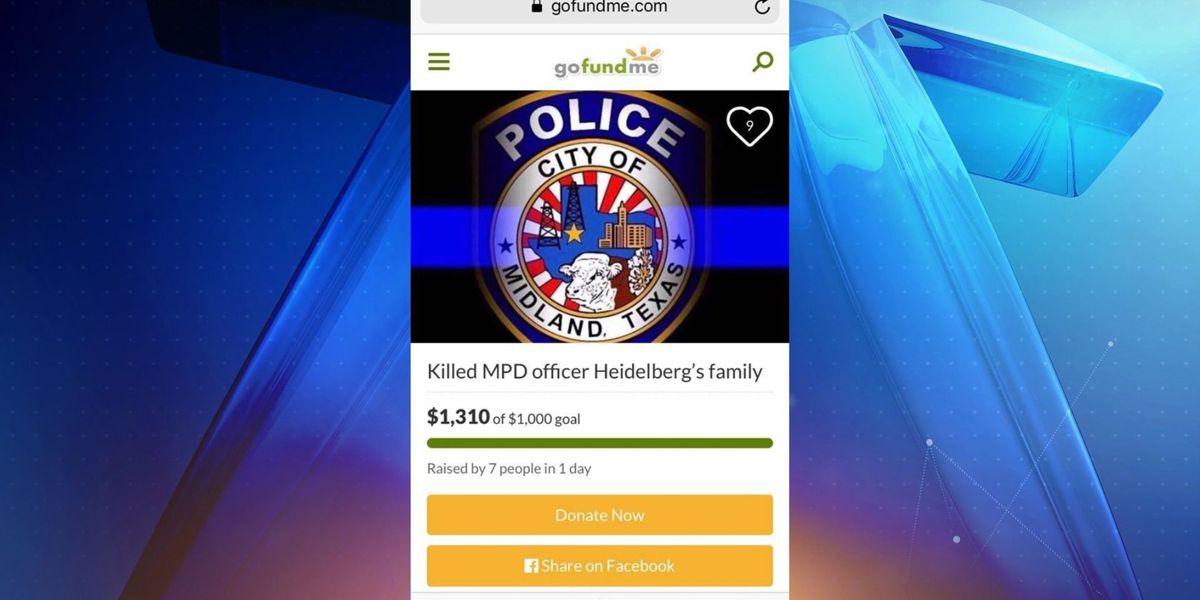"""Tenga cuidado con una estafa en la página """"gofundme"""" a nombre del oficial fallecido del Departamento de Policía Midland"""
