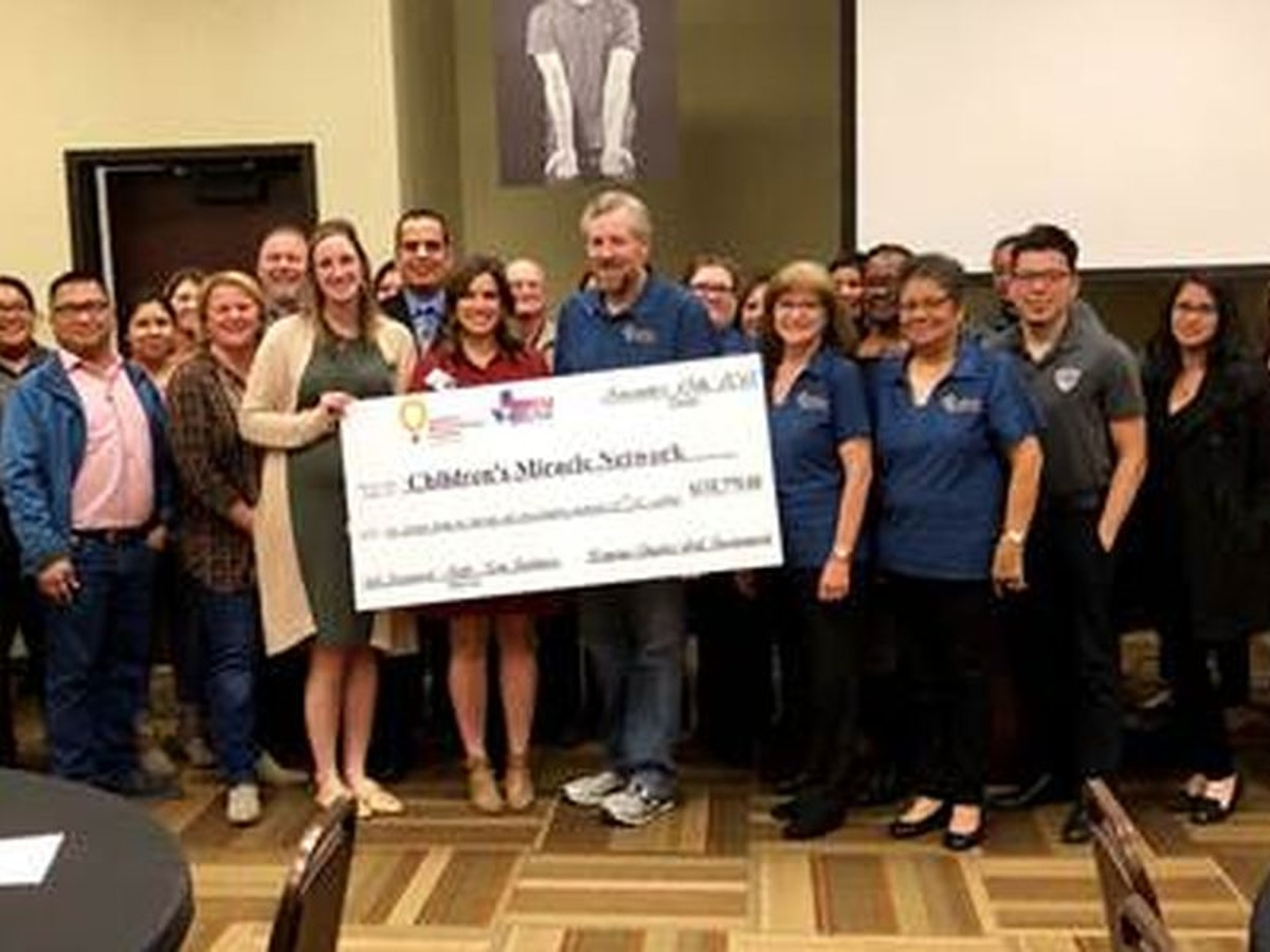 The Permian Chapter of Credit Unions recaudo más de $ 100,000 para la asociacion Children's Miracle Network