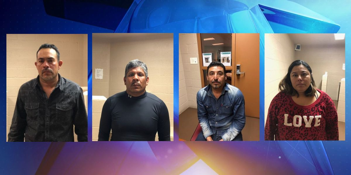Cuatro arrestados, incluyendo tres illegales indocumentados en el Condado de Terrell